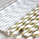 Metallic Striped Paper Straws