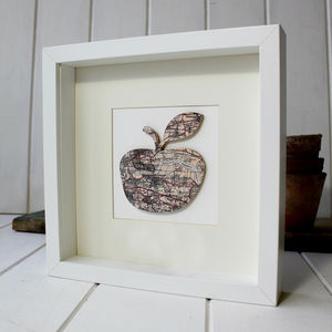 Personalised Apple Map Picture - map inspired art