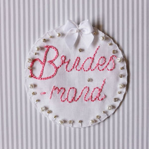 Personalised 'Bridesmaid' Badge