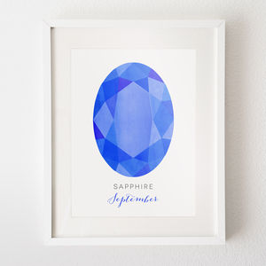 Your Birthstone Print - 30th birthday gifts