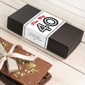 Birthday Age Chocolate Bar Gift Set - cards