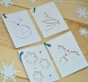 Pack Of Eight Laser Cut Christmas Gift Tags - cards & wrap