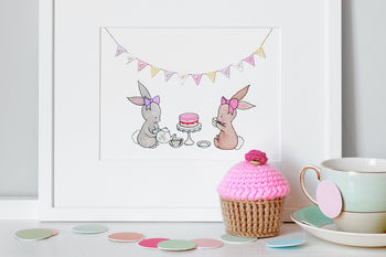 Tea For Two Nursery Print