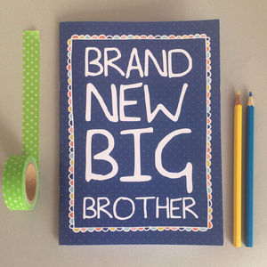 'Brand New Big Brother' Notebook - toys & games