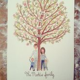 Family Tree Portrait Painting - prints & art
