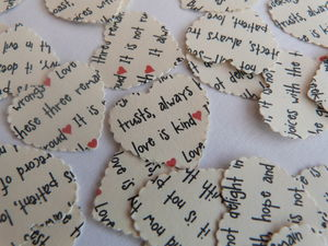'Love Is Patient' Heart Table Confetti - home