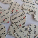 'Love Is Patient' Heart Table Confetti