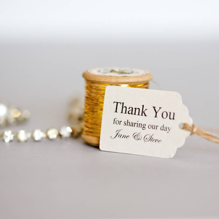 A Personalised Wedding Gift Message : personalised small favour tags by edgeinspired notonthehighstreet ...
