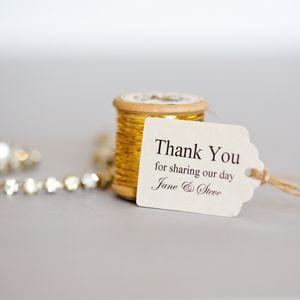Personalised Small Favour Tags - wedding stationery