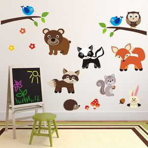 Woodland Animals Scene Wall Sticker - wall stickers