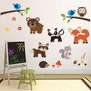 Woodland Animals Scene Wall Sticker