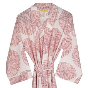 Bali Circle Print Bathrobe - bath robes
