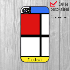 iPhone Case Mondrian Personalised - fashion
