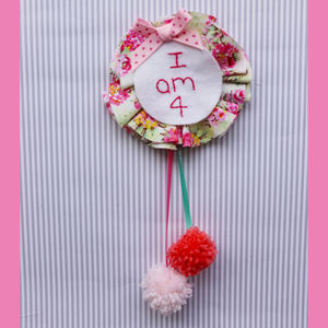 Personalised Birthday Girl Stitched Badge - women's accessories