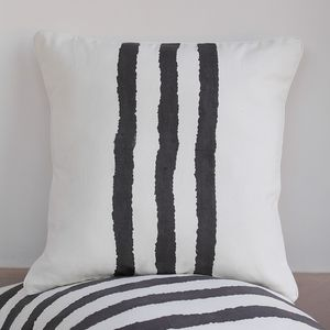 Kadi Three Wiggly Stripe Cushion Cover - bedroom