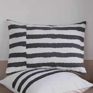 Kadi Offset Wiggly Stripe Cushion Cover - bedroom