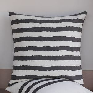 Kadi Bold Wiggly Horizontal Stripes Cushion Cover - bedroom