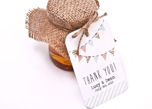 Bunting And Spots Favour Tag - styling your day