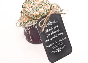 Chalkboard Favour Tag - wedding favours