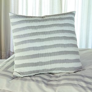 Kadi Bold Wiggly Stripe Quilted Voile Sham Pillowcase - cushions
