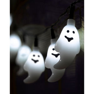 10 LED Battery Halloween Ghost String Lights - party decorations