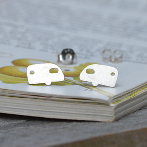 Holiday Caravan Ear Studs In Sterling Silver - earrings