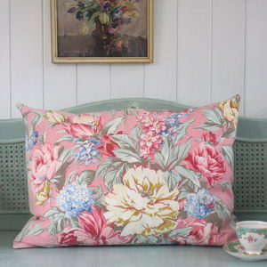 Vintage Pink Floral Pillow Cushion - cushions