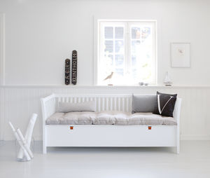 Scandinavian Bench Seat In White Or Black - furniture