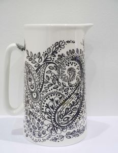 Bone China Jug Paisley Design, Large - dining room