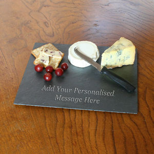 Personalised Rectangular Slate Cheese Board