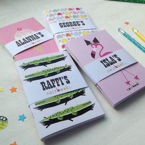 Personalised Set Of Mini Pocket Notebooks - office & study