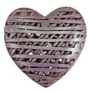 Silver Chocolate Heart