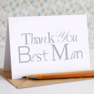 Thank You Best Man Card - wedding thank you gifts