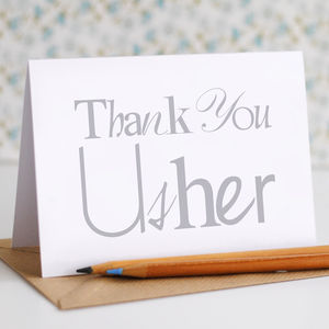 Thank You Usher Card - styling your day