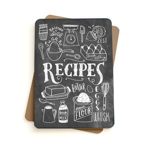 Blank Typographical Recipe Book - stationery