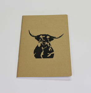 A4 Highland Cow Notebook