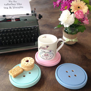 Cute As A Button Coaster - placemats & coasters