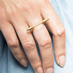 Gold Harp Love Ring - gifts for her