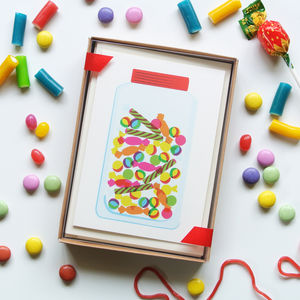 Sweets, Jelly, Ice Cream, Lolly, Set Of Eight Cards