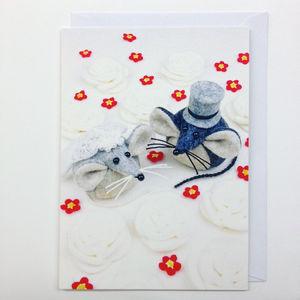 Mice Wedding Greeting Card - wedding cards & wrap