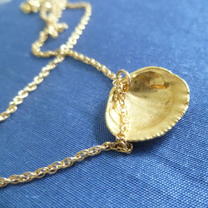 'Seashell' Golden Necklace - personalised