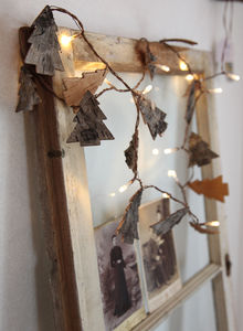 Natural Tree Bark Battery Light Chain - view all decorations