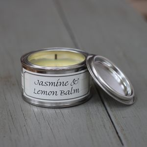 Jasmine and Lemon Balm Candle - table decorations