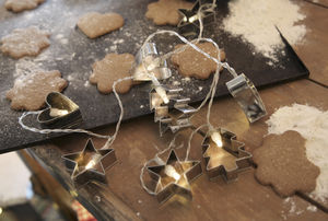 Cookie Cutter Christmas LED Light Chain - view all decorations