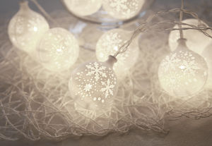 Snowflake Christmas LED Light Chain - view all decorations