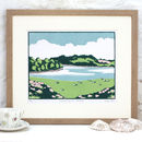 Cornwall Art Print 'Grazing By The Estuary'