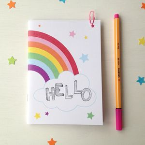 Personalised Rainbow Notebook - home
