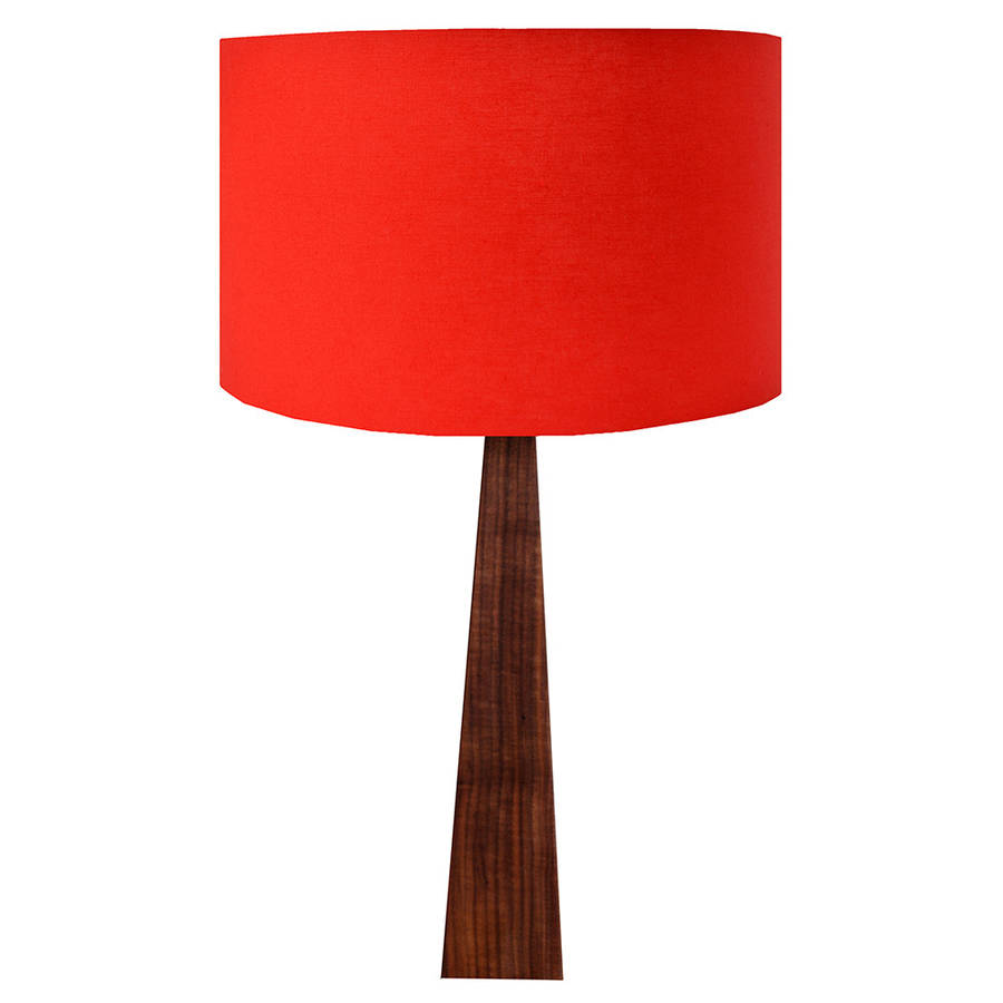 Red Wooden Table Lamp By Hunkydory Home