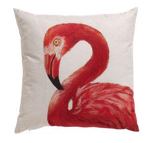 Flamingo Cushion, Looking Left - cushions