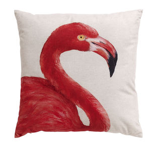 Flamingo Cushion, Looking Right - home
